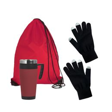 Набор подарочный Зимняя прогулка, черный, красный фото