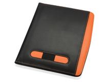 Папка для документов с блокнотом и калькулятором Guidon А4, черная/ оранжевая фото