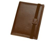 Папка-портфолио с блокнотом А5, коричневый фото
