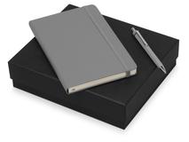 Подарочный набор Moleskine Hemingway с блокнотом А5 и ручкой, серый фото