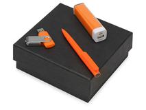 Подарочный набор On-the-go с флешкой, ручкой и зарядным устройством фото