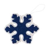 Украшение новогоднее SNOWFLAKE из фетра, темно-синий/белый фото