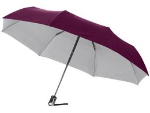 Зонт складной Alex, серебряный/серый фото
