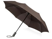 Зонт складной автоматический Ontario, коричневый фото