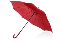 Зонт-трость полуавтоматический с пластиковой ручкой, красный фото