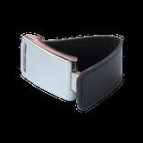Флешка Элегант, металлическая с кожаными вставками, черная, 32Гб фото