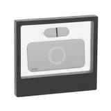 """Набор подарочный """"Камень"""" на 2 предмета (флешка 16 Гб, аккумулятор 8000 mAh), серый с черным фото"""