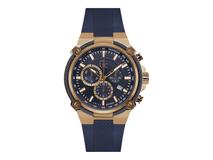 Часы наручные, мужские, синий, золотой фото