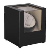Шкатулка для часов с подзаводом, черный/бежевый фото