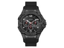 Часы наручные Guess, мужские, d52, черный металлик/черный фото