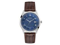 Часы наручные Guess, мужские, сине-коричневые фото