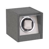 Шкатулка для часов с подзаводом, серебряный/серый фото