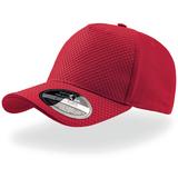 Бейсболка Gear 5 клиньев, застежка на липучке, красный фото