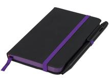 Блокнот А6 Noir Edge, черный с фиолетовым фото