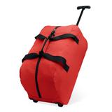 Дорожная сумка на колесах, красный фото