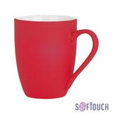 Кружка Trend, покрытие soft touch, красный фото