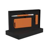 "Набор ручка ""Clas"" + флеш-карта ""Case"" 8 Гб + зарядное устройство ""Theta"" 4000 mAh в футляре фото"
