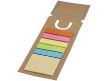 Закладка с набором стикеров, коричневый фото