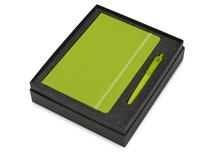 Подарочный набор Vision Pro soft-touch с ручкой и блокнотом А5, зелёный фото