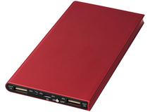 Портативное зарядное устройство Plate, 8000mAh, красное фото