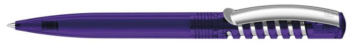 Ручка шариковая New Spring Clear clip metal, прозрачный фиолетовый фото
