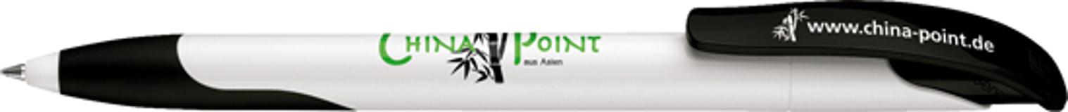Ручка шариковая Challenger Soft, белый/черный фото
