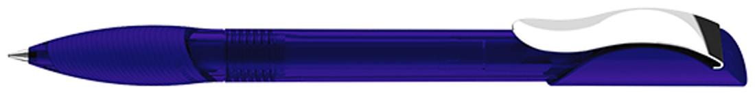 Ручка шариковая Hattrix Clear Soft grip Clip Metal, синий фото