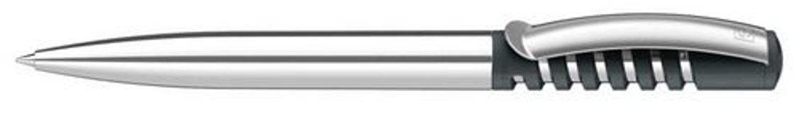 Ручка шариковая New Spring Chrome, антрацит 445 фото