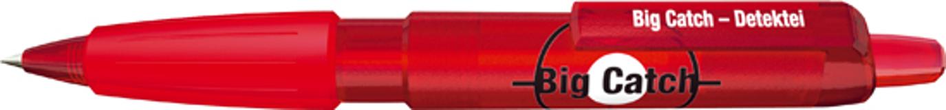 Ручка шариковая Big Pen XL Frosty, красный/красный фото