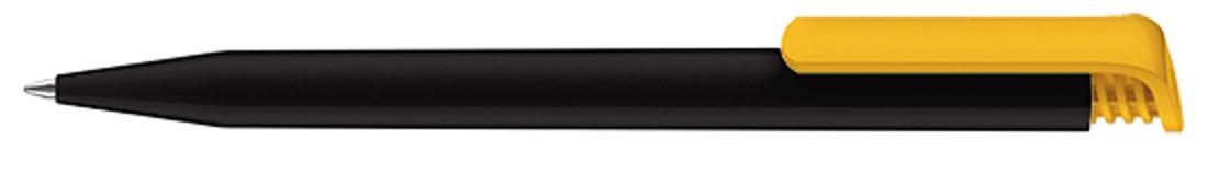 Ручка шариковая Super-Hit Recycled, черный/желтый фото