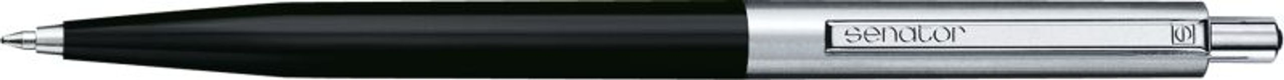 Ручка металлическая Point Polished Metal, черный фото