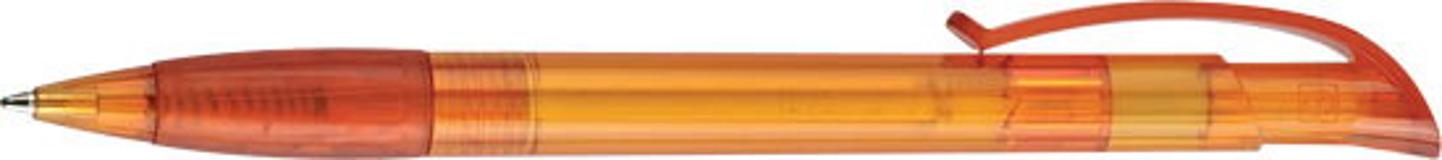 Ручка шариковая P5, прозрачный оранжевый/оранжевый фото