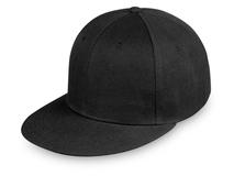 Бейсболка Los Angeles 6 клиньев, прямой козырек, черный фото