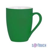 Кружка Trend, покрытие soft touch, зеленый фото