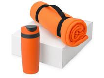 Подарочный набор Cozy с пледом и термокружкой, оранжевый фото