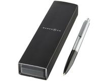 Ручка металлическая шариковая Dot, черный, серый фото