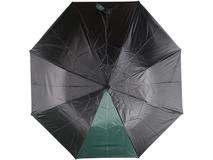 Зонт складной автоматический Логан, черный/ зеленый фото