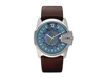 Часы наручные, мужские, коричневый/ синий, серебряный/серый фото