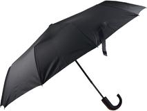 Зонт складной полуавтомат, черный фото