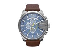 Часы наручные Diesel, мужские, d51, серебряный/синий/коричневый фото