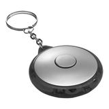 Брелок - фонарик круглый, серый/черный фото