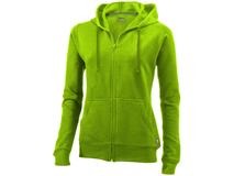 Толстовка Open женская с капюшоном, зелёный фото