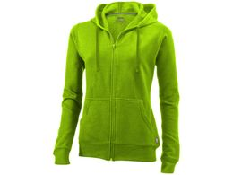 Толстовка Open женская с капюшоном, зеленый фото