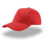 Бейсболка детская KID START FIVE, 5 клиньев, застежка на липучке, красная фото