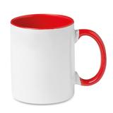 Кружка для деколи, красный/белый фото
