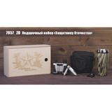 Подарочный набор Защитнику Отечества, черный, зеленый фото