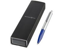 Ручка металлическая шариковая Dot, синий/ серый фото
