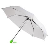 Зонт складной механический Fantasia, белый/ зеленое яблоко фото