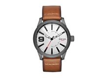 Часы наручные, мужские, серебряный/серый, коричневый фото