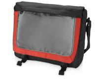 Конференц сумка для документов Грей, серебряный/серый, красный фото